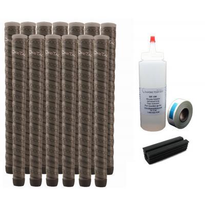 13 Winn Dri-Tac Wrap WinnDry Dark Gray Oversize - Free Grip Kit