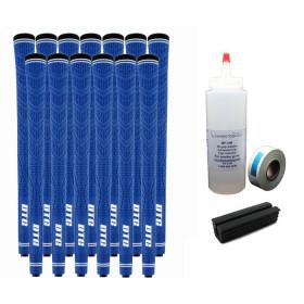 13 DTG Tour Performance Blue Golf Grips - Free Grip Kit