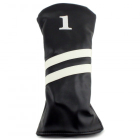 2 Stripe Driver Headcover - Black