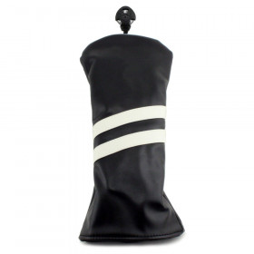 2 Stripe Fairway Headcover - Black