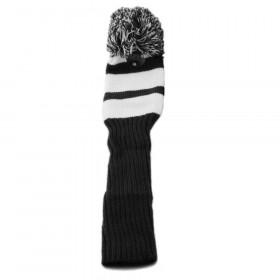 Pom Pom Hybrid Headcover Black/White