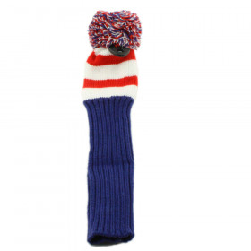 Pom Pom Hybrid Headcover Red/White/Blue