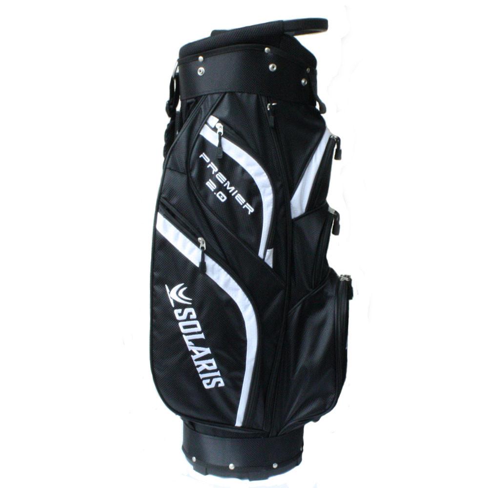 Solaris Premier 2 0 Cart Bag Black White Golf Bags