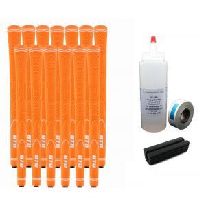 13 DTG NEON Orange Undersize Golf Grips - Free Grip Kit
