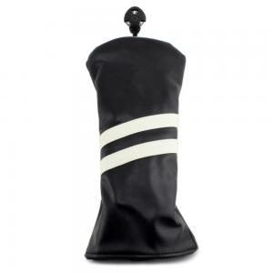 2 Stripe Hybrid Headcover - Black