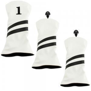2 Stripe Headcover - 3 Pack - White