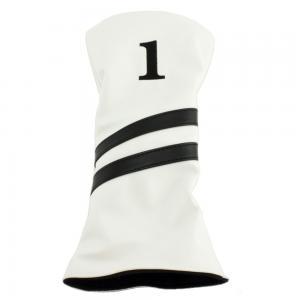 2 Stripe Driver Headcover - White