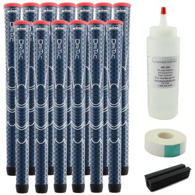 13 Winn Dri-Tac WinnDry Navy Standard - Free Grip Kit