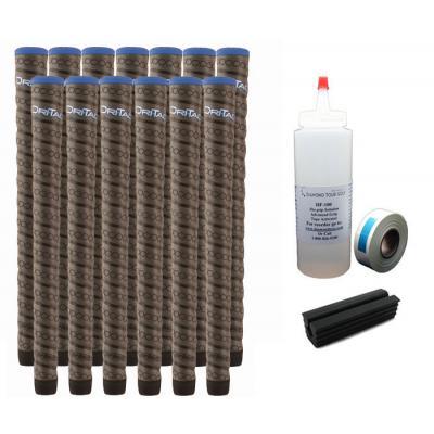 13 Winn Dri-Tac Wrap WinnDry Dark Gray Midsize - Free Grip Kit