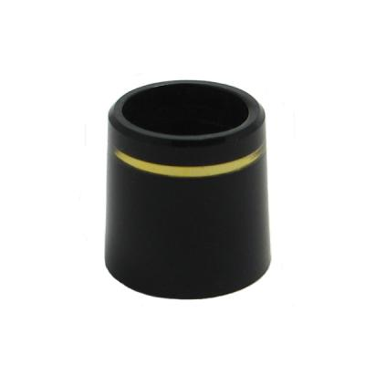 1/2 Inch Iron Black/Gold Ferrules Doz.