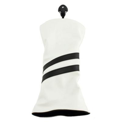 2 Stripe Hybrid Headcover - White