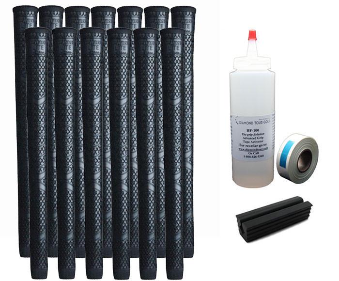 13 Winn Lite Medium Firm V17 Black Standard - Free Grip Kit
