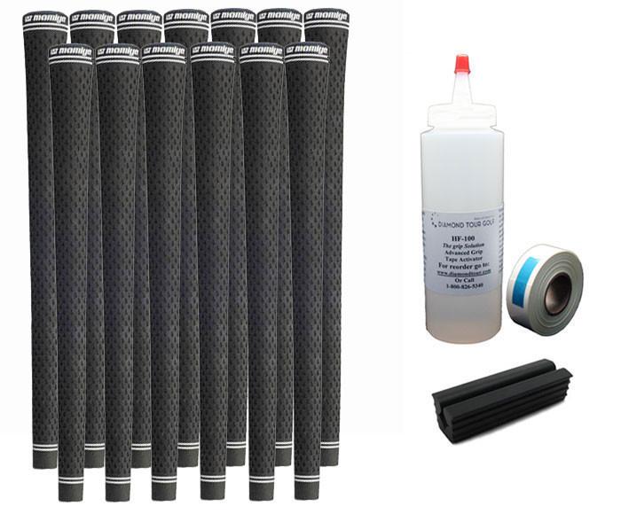 13 UST Tour PC 360 Black Midsize Golf Grips - Free Grip Kit