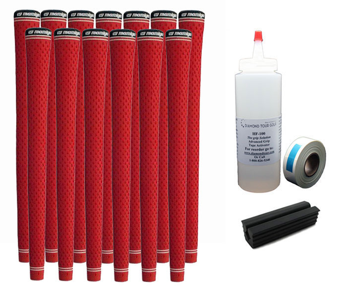13 UST Tour PC 360 Red Midsize Golf Grips - Free Grip Kit