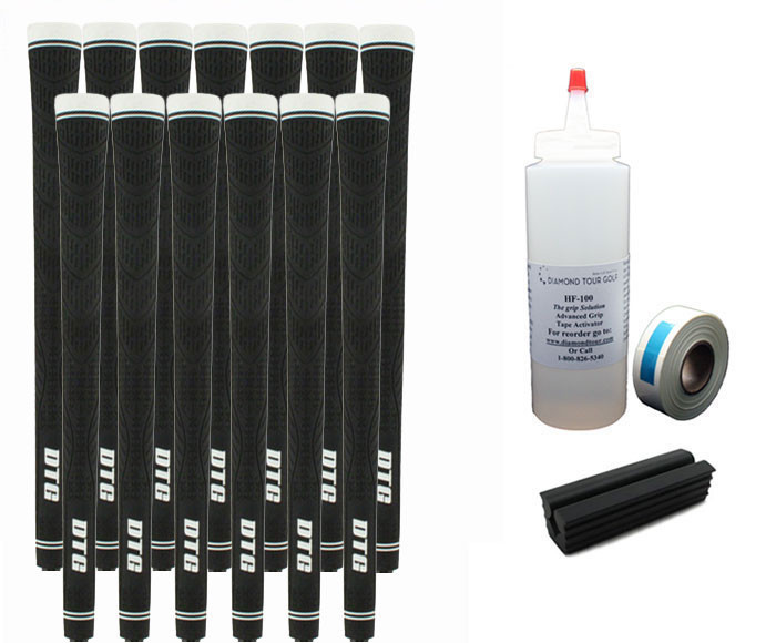 13 DTG Tour Performance Black Golf Grips - Free Grip Kit