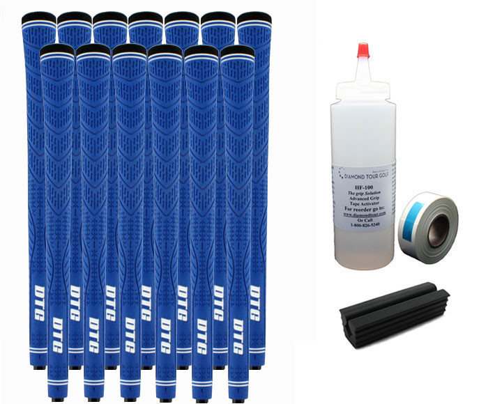 13 DTG Tour Performance Blue Golf Grips - Free Grip Kit