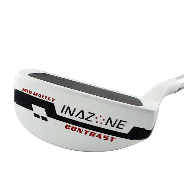 Inazone Contrast Mid Mallet White Putter