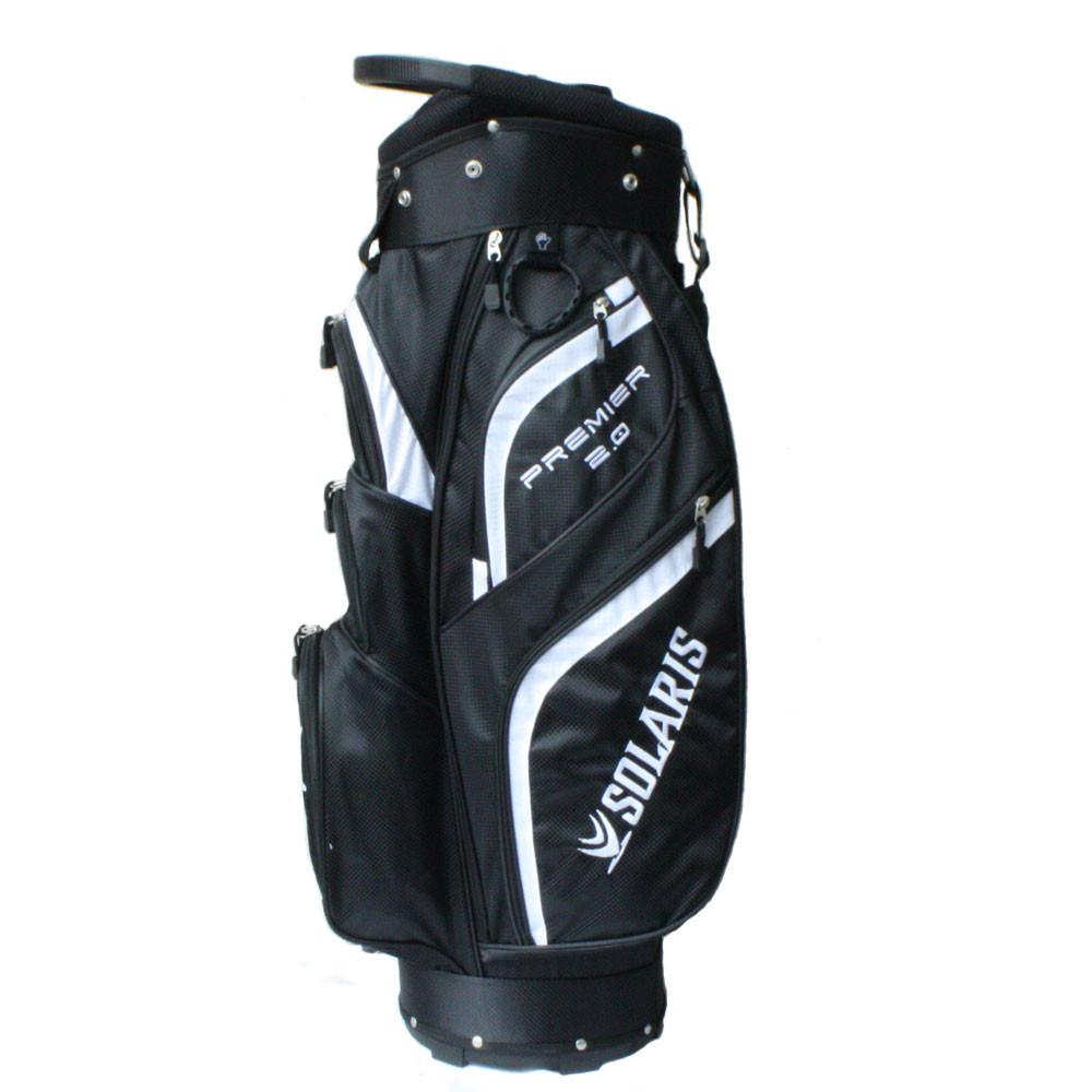 Solaris Premier 2.0 Cart Bag - Black/White