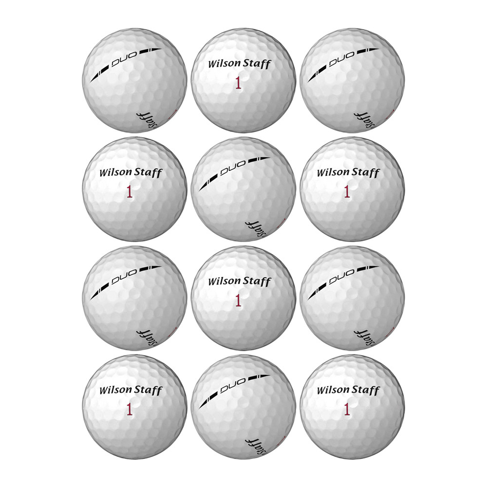 Wilson Duo Golf Balls White - 1 Dozen - LOOSE