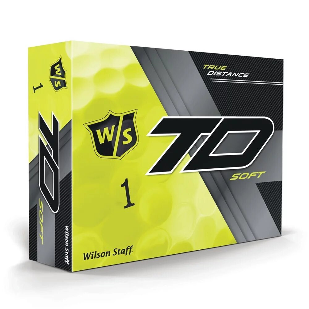 Wilson Staff True Distance Golf Balls - Soft Yellow - 1 Dozen
