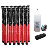 13 Winn Dri-Tac Black/Red Standard - Free Grip Kit