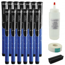13 Winn Dri-Tac Black/Blue Midsize - Free Grip Kit