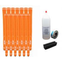 13 DTG NEON Orange Golf Grips - Free Grip Kit