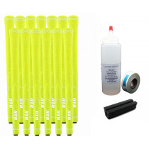 13 DTG NEON Yellow Golf Grips - Free Grip Kit