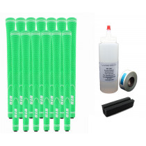 13 DTG NEON Green Undersize Golf Grips - Free Grip Kit