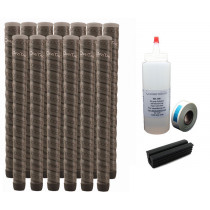 13 Winn Dri-Tac Wrap WinnDry Dark Gray Oversize - Free Grip Kit