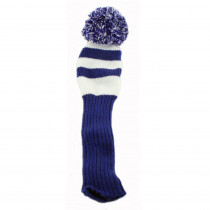 Pom Pom Fairway Headcover Royal/White